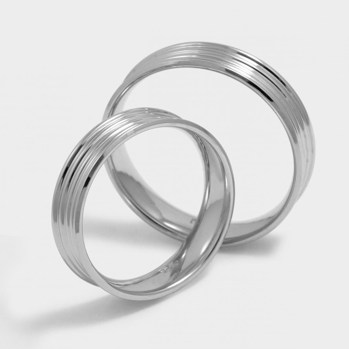 Ring Classic Model Nairobi White Platinum And Rhodium Plated